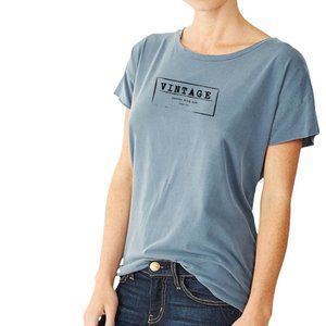 """Tops - """"Vintage, better with age"""" Minimal-Washed Graphic"""